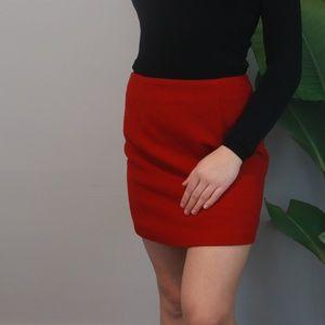 Vintage Red Wool Mini skirt